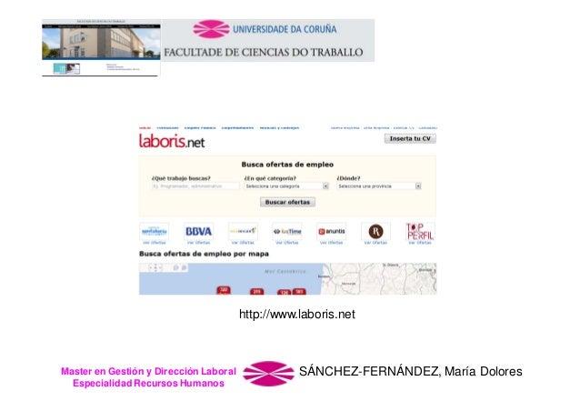 http://www.laboris.net  Master en Gestión y Dirección Laboral Especialidad Recursos Humanos  SÁNCHEZ-FERNÁNDEZ, María Dolo...
