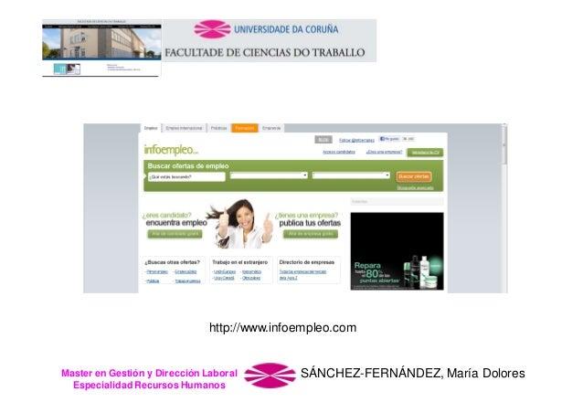 http://www.infoempleo.com  Master en Gestión y Dirección Laboral Especialidad Recursos Humanos  SÁNCHEZ-FERNÁNDEZ, María D...