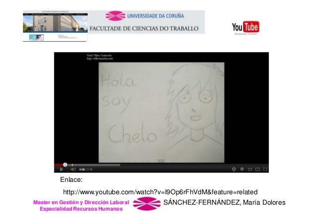 Enlace: http://www.youtube.com/watch?v=I9Op6rFhVdM&feature=related Master en Gestión y Dirección Laboral Especialidad Recu...