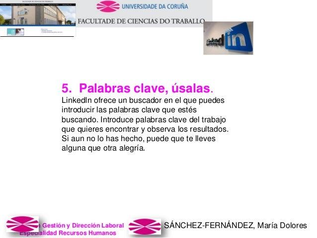 SÁNCHEZ-FERNÁNDEZ, María DoloresMaster en Gestión y Dirección Laboral Especialidad Recursos Humanos 5. Palabras clave, úsa...