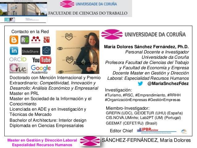 SÁNCHEZ-FERNÁNDEZ, María DoloresMaster en Gestión y Dirección Laboral Especialidad Recursos Humanos María Dolores Sánchez ...