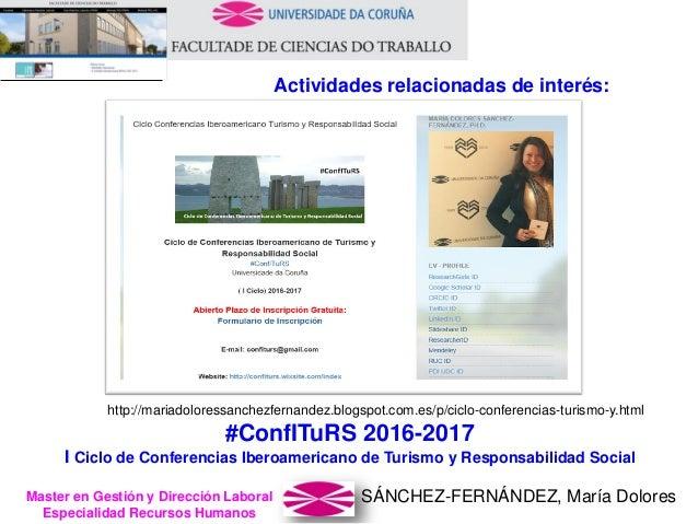 SÁNCHEZ-FERNÁNDEZ, María DoloresMaster en Gestión y Dirección Laboral Especialidad Recursos Humanos http://mariadoloressan...