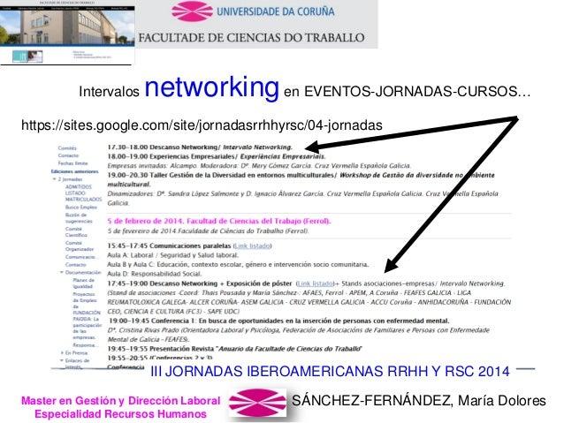 SÁNCHEZ-FERNÁNDEZ, María DoloresMaster en Gestión y Dirección Laboral Especialidad Recursos Humanos Intervalos networkinge...
