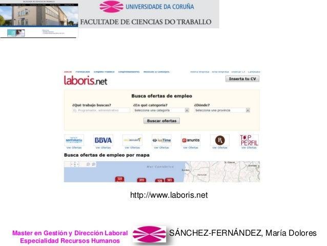 SÁNCHEZ-FERNÁNDEZ, María DoloresMaster en Gestión y Dirección Laboral Especialidad Recursos Humanos http://www.laboris.net