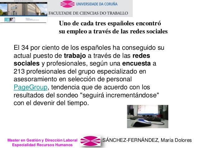SÁNCHEZ-FERNÁNDEZ, María DoloresMaster en Gestión y Dirección Laboral Especialidad Recursos Humanos Uno de cada tres españ...