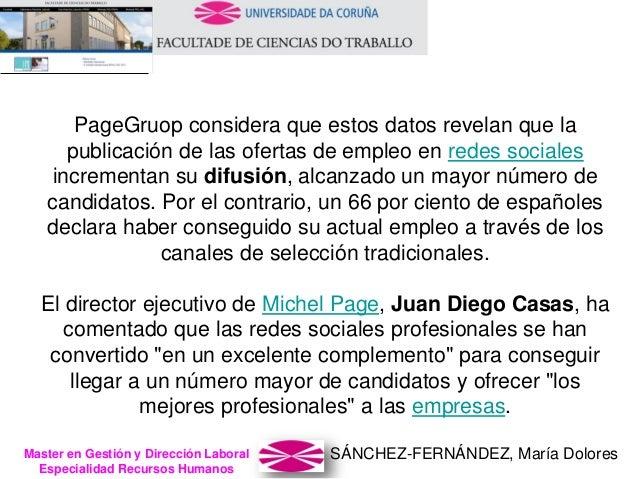 SÁNCHEZ-FERNÁNDEZ, María DoloresMaster en Gestión y Dirección Laboral Especialidad Recursos Humanos PageGruop considera qu...