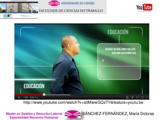 SÁNCHEZ-FERNÁNDEZ, María DoloresMaster en Gestión y Dirección Laboral Especialidad Recursos Humanos http://www.youtube.com...