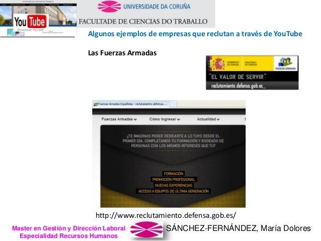SÁNCHEZ-FERNÁNDEZ, María DoloresMaster en Gestión y Dirección Laboral Especialidad Recursos Humanos http://www.reclutamien...