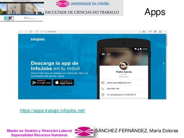 SÁNCHEZ-FERNÁNDEZ, María DoloresMaster en Gestión y Dirección Laboral Especialidad Recursos Humanos https://apps.trabajo.i...