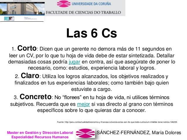 SÁNCHEZ-FERNÁNDEZ, María DoloresMaster en Gestión y Dirección Laboral Especialidad Recursos Humanos 1. Corto: Dicen que un...