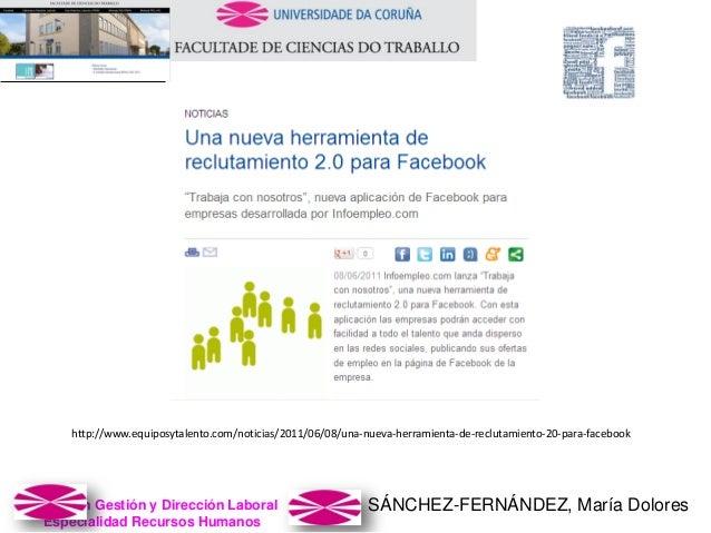 SÁNCHEZ-FERNÁNDEZ, María DoloresMaster en Gestión y Dirección Laboral Especialidad Recursos Humanos http://www.equiposytal...