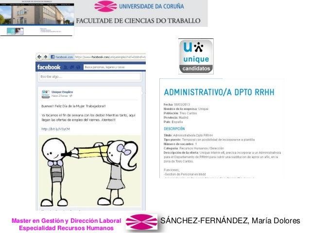 SÁNCHEZ-FERNÁNDEZ, María DoloresMaster en Gestión y Dirección Laboral Especialidad Recursos Humanos