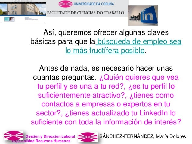 SÁNCHEZ-FERNÁNDEZ, María DoloresMaster en Gestión y Dirección Laboral Especialidad Recursos Humanos Así, queremos ofrecer ...