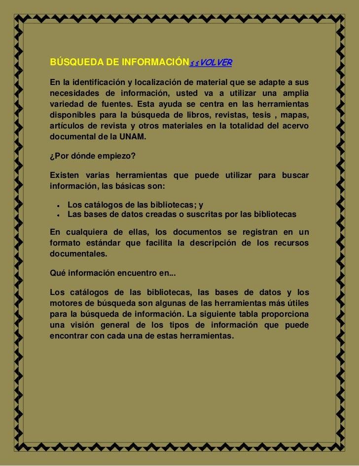 """BÚSQUEDA DE INFORMACIÓN                            HYPERLINK """"../../inicio/INDIICE.docx"""" ≤≤VOLVER<br />En la identificació..."""