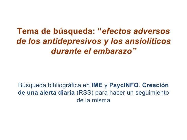 Busqueda Ime Psyc Info Creacion Alerta