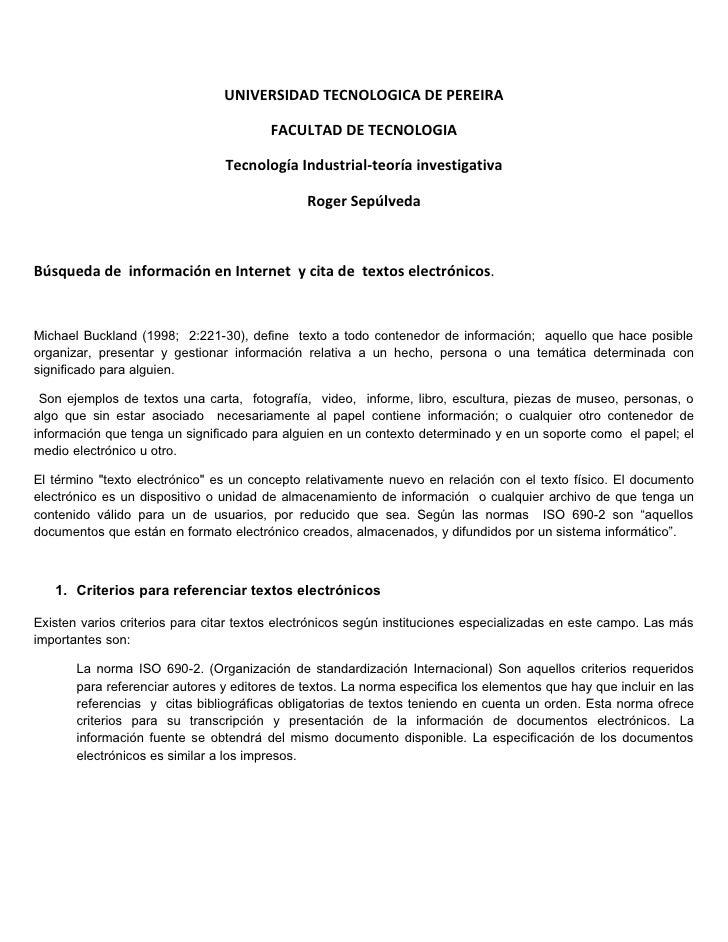 UNIVERSIDAD TECNOLOGICA DE PEREIRA                                          FACULTAD DE TECNOLOGIA                        ...