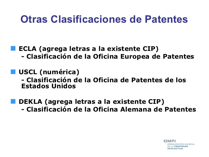 Busquedas en bases de datos de patentes taller ompi inpi for Oficina europea de patentes