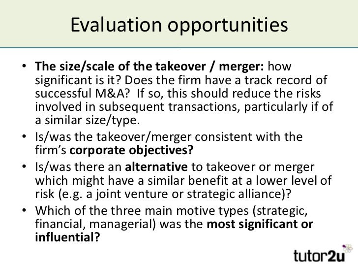 disadvantage of takeover The advantages of taking over companies through a merger or acquisition are numerous companies can boost revenue streams and market share, broaden their product base or increase their.
