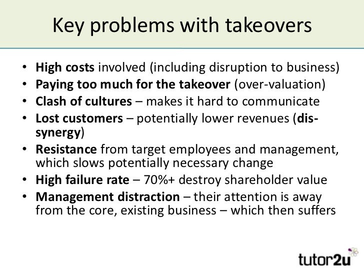 main reasons for takeovers