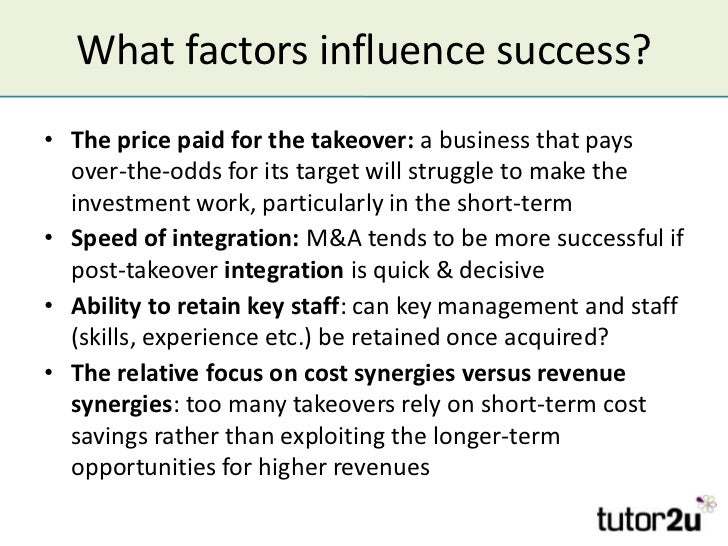 success and failure of merger & acquisition