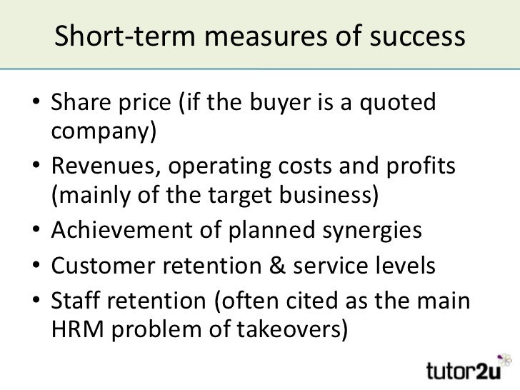 Factors influencing the success of takeovers