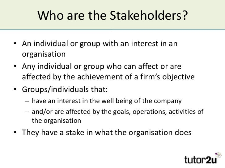 What Effects Do Stakeholders Have on Your Business?