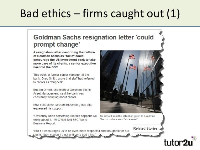 Bad ethics – firms caught out (1)