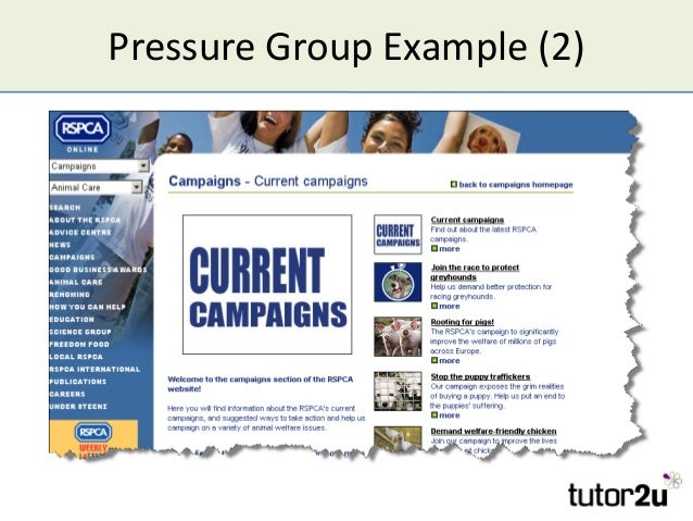 Pressure Group Example (2)