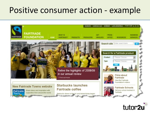 Positive consumer action - example