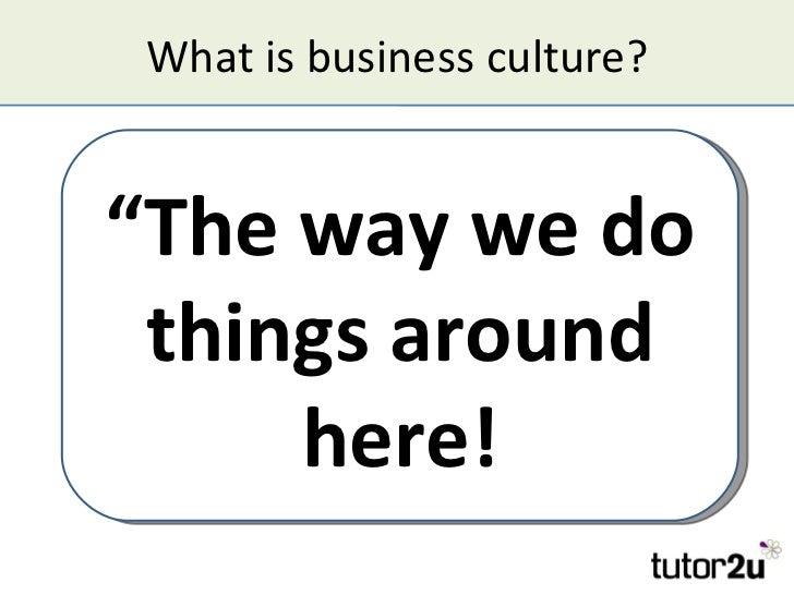 Business Strategy And Culture