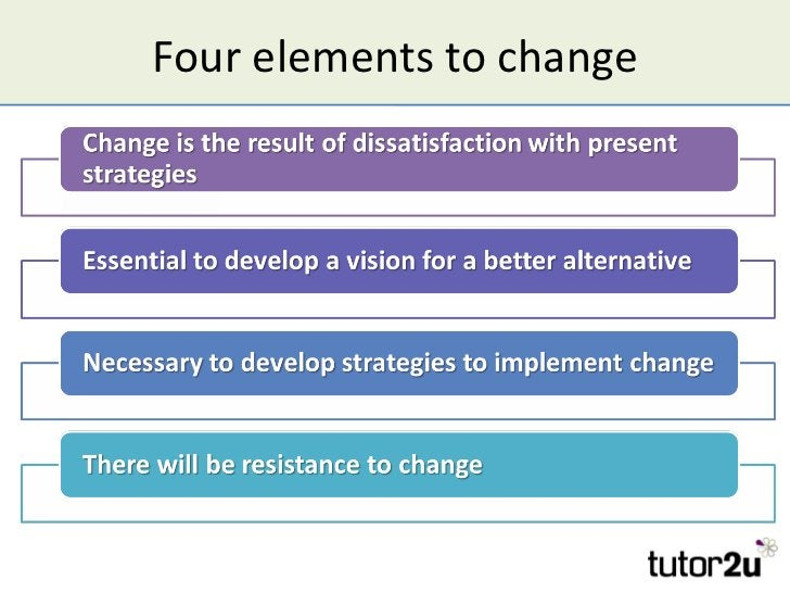 Four elements to change
