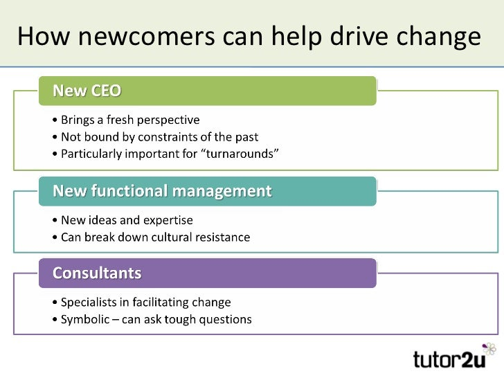How newcomers can help drive change