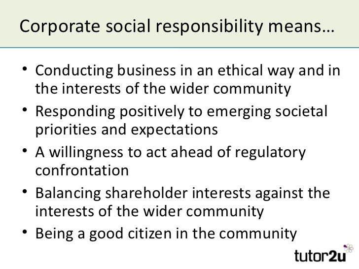 Business Corporate Social Responsibility