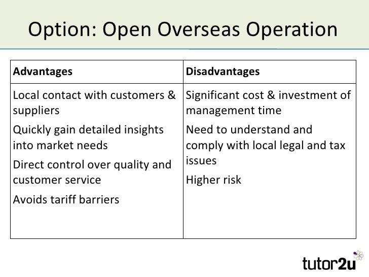 Advantage and disadvantage of emerging markets