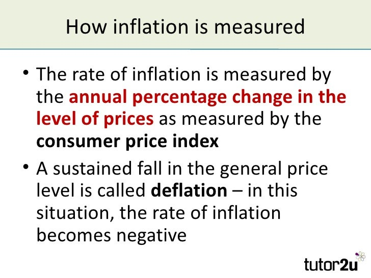 inflation and index number The consumer prices index a price index can be used to measure inflation in a number of consumer price inflation for january 2016 to january 2017 will be.