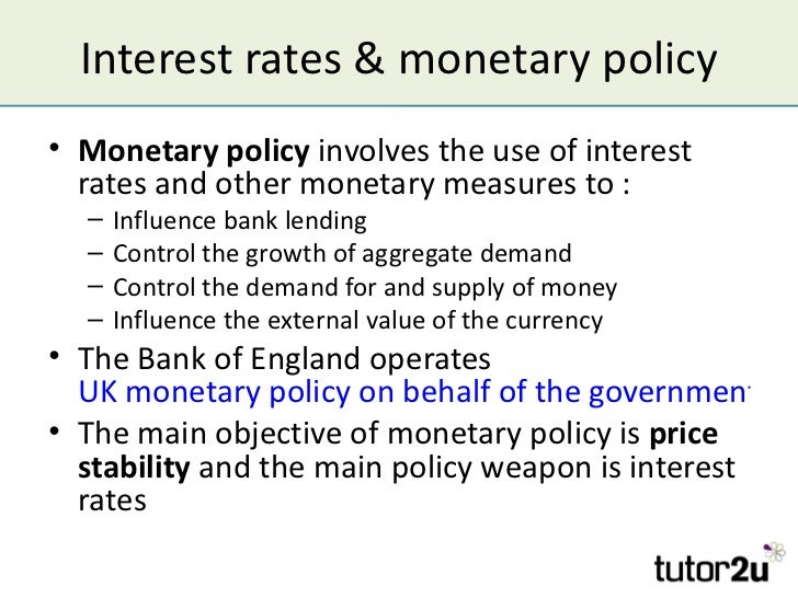 Use monetary policy in a sentence