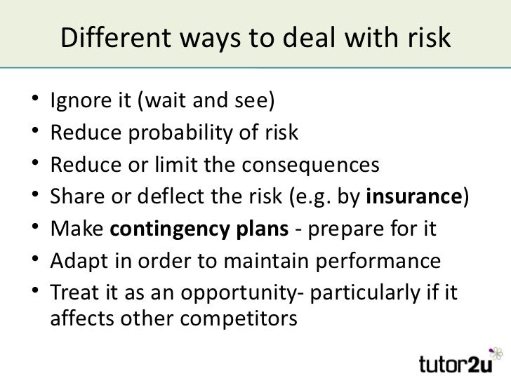 risk management and contingency planning Managing risk and contingency i was recently interviewing a risk management specialist and was intrigued to find that although he had a huge amount of knowledge about risk and issues management, he had very little knowledge of contingency.