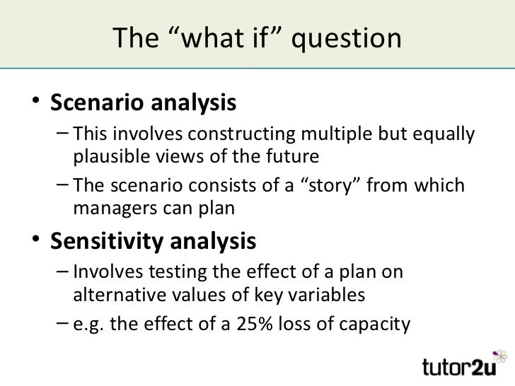 what is the essential difference between sensitivity analysis ans scenario analysis
