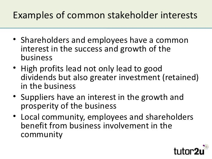 the company stakeholders essay On firm interactions with secondary stakeholders françois  in this three-essay  dissertation, i theorize about and examine the influential role.