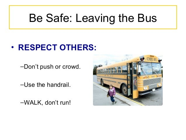Bus Safety Powerpoint