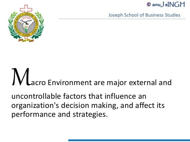 the major external and uncontrollable factors that influence an organization decision making perform Organizational behavior essay topics  which factors will influence employee b's perception in this  stakeholders in decision making in.
