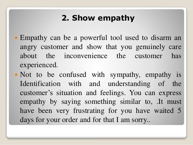 Exceptional SlideShare On Empathy Letter Sample