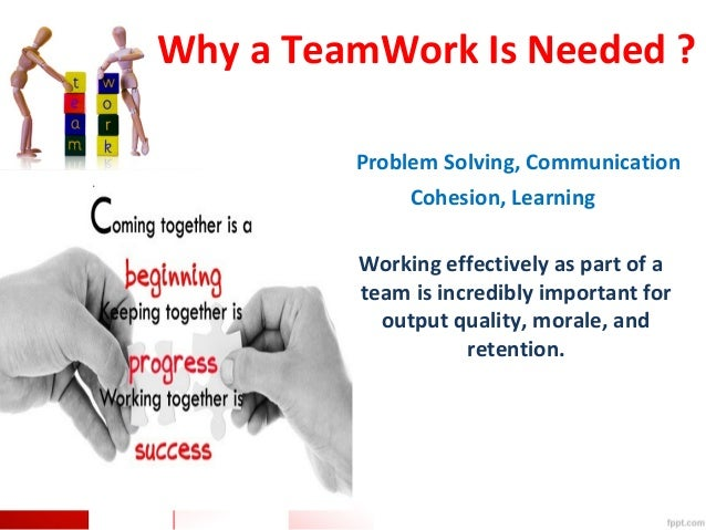 describe why teamwork is important in schools Unit 7 understand the work of the team 31 describe why teamwork is important in schools team work in schools is important as it ensures that everyone will.