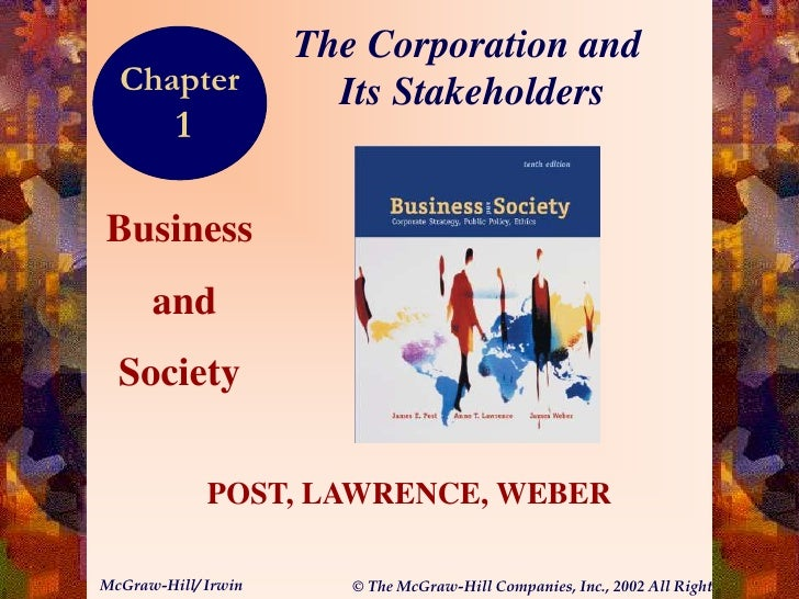 The Corporation and  Chapter              Its Stakeholders         1                                                      ...