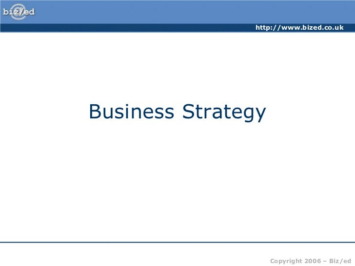 Business Strategy<br />