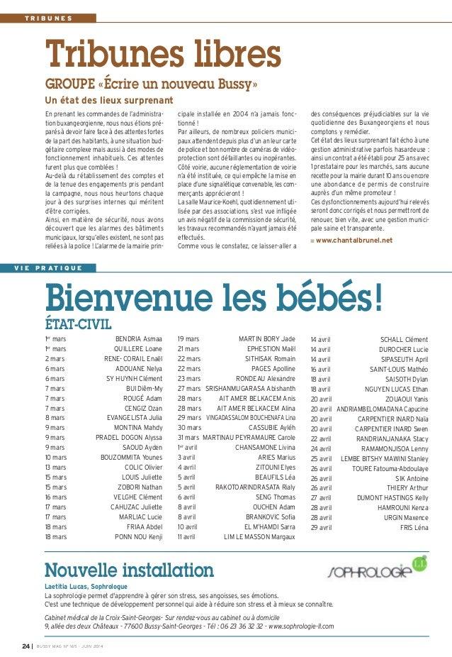 Journal de bussy n 165 - Cabinet medical bussy saint georges ...