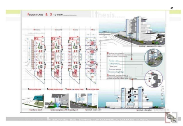 Bus Terminal Commercial Complex Isbt India Ppt Show