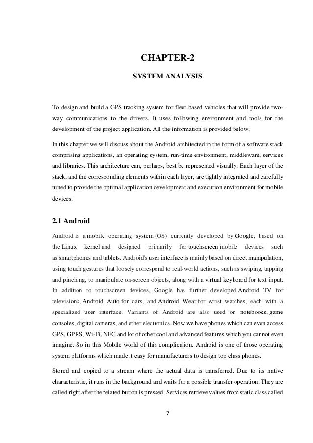 Bus Tracking Application Project Report