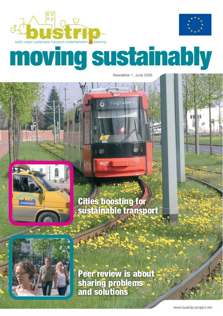 moving sustainably               Newsletter 1, June 2006      Cities boosting for      sustainable transport      Peer rev...
