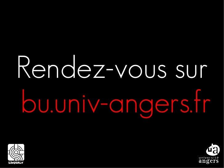 Rendez-vous surbu.univ-angers.fr